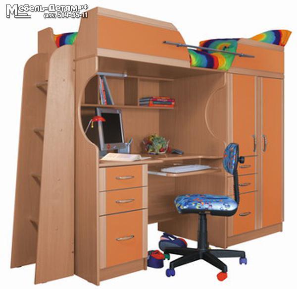 Кровать - чердак (шкаф, стол, тумба) - купить со скидкой до .