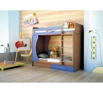 Детская мебель Орбита-2 (цветной фасад), 203*Н179*85,4, спальное место  80*200