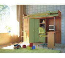 Мебель в детскую Орбита-1 М85 (8 видов цветного фасада), 203*н186*84,5, спальное место  80*200