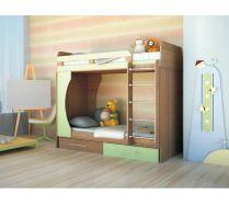 2-х ярусная кровать Орбита-2 (цветной фасад), 203*Н179*85,4, спальное место  80*200