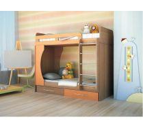 Двух-ярусная кровать Орбита-2 (цветной фасад), 203*Н179*85,4, спальное место  80*200