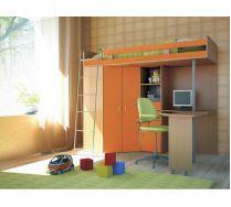 Детская мебель Орбита-1 М-85 (8 видов цветных фасадов), спальное место 80*200
