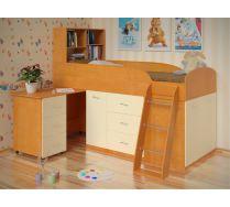 Кровать чердак Дюймовочка: детская мебель Спальное место 80*190 см.