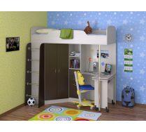 Детская стенка Теремок - кровать чердак 195*Н193*144, (спальное место 80*190)