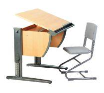 Парта + стул (СУТ 14). Комплект растущей мебели ДЭМИ. Детская парта.