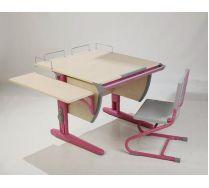 Парта + стул + приставка + боковая приставка (СУТ 14-02) Парта Дэми (Деми) Детская парта