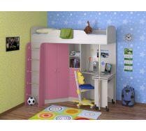 Детская Теремок - кровать чердак с рабочей зоной 195*Н193*144 (спальное место 80*190)