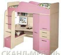 Кровать чердак Нильс, Цвет: Клен Медисон/Каприче, Спальное место 80*190