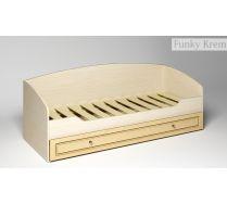 Детская мебель Фанки Крем - кровать с выдвижным ящиком ФКР-01