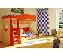Детская мебель Орбита-5 (цветной фасад), спальное место 190*80