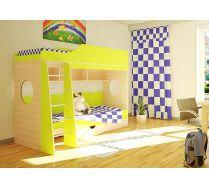Мебель Орбита-5 в детскую (цветной фасад), спальное место 190*80