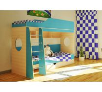 Детская стенка Орбита-5 (цветной фасад), спальное место 190*80