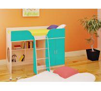 Кровать чердак Орбита-6 (цветной фасад), спальное место 160*70