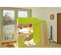 Кровать чердак Орбита-7 - детская мебель (6 цветов фасадов + 2 вида цвета корпуса), спальное место 190*80