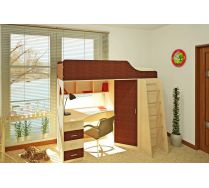 Кровать чердак Орбита-7 - мебель для детей спальное место 190*80