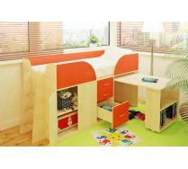 Детская мебель Орбита-10 с рабочей зоной, спальное место 190х80см. 6 ЦВЕТОВ ФАСАДОВ!