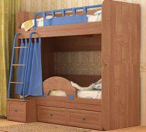 Двухъярусная кровать НЕМО фабрика СКАНД цвет ольха