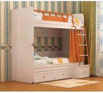 Двухъярусная кровать НЕМО фабрика СКАНД цвет Дуб Паллада
