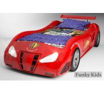 Детская кровать машина Enzo Фанки красного цвета, матрац 190х90см, покупается отдельно! ВНИМАНИЕ! СКИДКА 35%