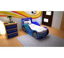 Кровать машина Шериф Престиж СИНЯЯ и КРАСНАЯ. В стоимость включена решетка 170х70 см!