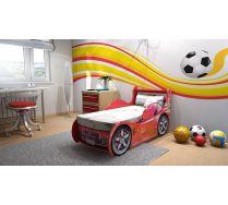 Детская кровать машина Шериф СИНЯЯ и КРАСНАЯ. Престиж В стоимость включена ортопед.решетка 160х70 см!