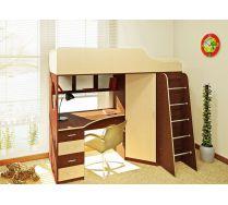 Кровать-чердак Орбита-7 - мебель для детей, (6 цветов фасадов + 2 вида цвета корпуса), спальное место 190*80