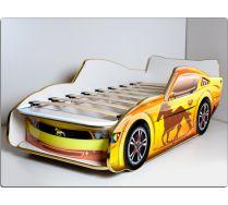 Кровать машина детская Мустанг ЛЮКС с подъемной ортопедической решеткой. Спальное место 170х70