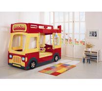 Двухъярусная детская кровать машина Milli Bus арт.031