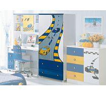 Milli Willi Шкаф для одежды (синий) арт.В17