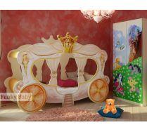 Детская кровать-карета Золушка + шкаф Ш-3 мебель Пони