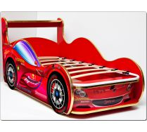 Детская кровать-машина СпортКар Люкс ViVera спальное место 150х70 с ортопедической решеткой в комплекте.