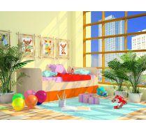Новинка.Детская кровать Орбита-11/4 (нижняя) спальное место 190*80см. 6 цветов фасадов.