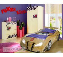 Фанки Энзо + Ш3 шкаф + К1 комод Фанки Авто комната для девочки