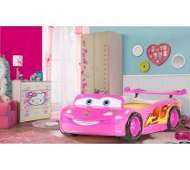 Кровать-машина Молния Маквин арт. 20005 + мебель Хеллоу Китти