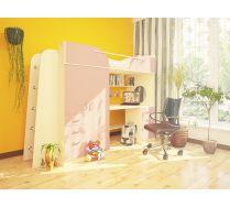 Детская Орбита-4 (корпус дуб кремона/ фасад розовый), 239*Н182,2*84 см, спальное место 80*200