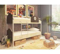 Детская двухъярусная кровать Орбита-12 (6 цветных фасадов). Спальное место 190х80см.
