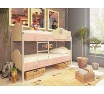 2-х ярусная кровать Орбита 12 сп.место 190х80 (6 цветных фасадов)