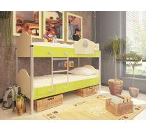 2-х ярусная кровать для детей Орбита 12 (6 цветных фасадов)