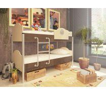 Двухъярусная детская кровать Орбита-12 (6 цветных фасадов).
