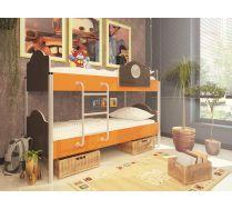 2-х ярусная детская кровать Орбита-12 (6 цветных фасадов)