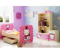 Композиция 1. Хеллоу Китти мебель для девочки - кровать КР6 + стеллаж С2 + тумба Т5