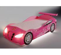 Кровать-машина со встроенным матрацем Ниссан для девочек