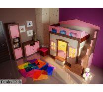 Кровать Фанки Хоум + пенал ФТ-04 + комод ФТ-01 мебель Фанки Тайм