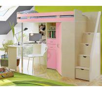 Детская мебель Орбита 1ГРАНД для девочки (корпус дуб кремона/фасад розовый)