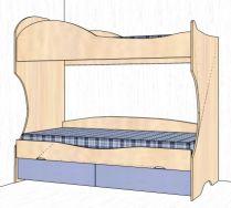 Кровать двухярусная №20 (спальное место190х80) детская мебель Дельта