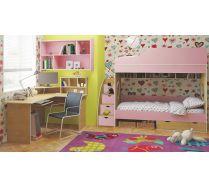 Двухярусная кровать Орбита5, стол письменный угловой, полка, лестница.