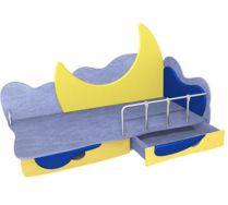 Детская игровая кровать Месяц 1 (160х80) бортик не входит в стоимость