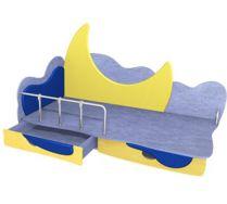 Детская игровая кровать Месяц 1 (140х70) бортик не входит в стоимость