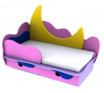 Детская игровая кровать Месяц 5 (140х70) бортик не входит в стоимость