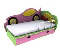 Детская кровать Машинка 5 (140х70) бортик не входит в стоимость